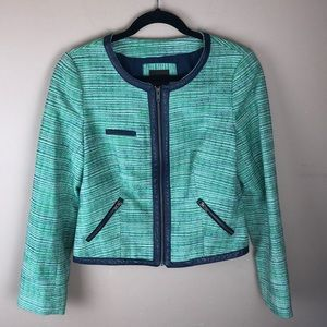 The Limited Green & Blue Blazer